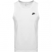 Nike Club Logo Vest T Shirt White